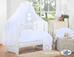 Silver Cross Nostalgia Sleigh Cot Bed Luxury U0026 Absolute Beautiful With Embroidered Heart White Baby