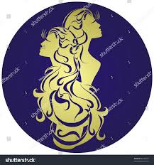 Astrology Sign Gemini Astrology Sign Vector Zodiac Stock Vector 63183625