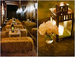 Lanterns For Wedding Centerpieces by Elegant Wedding In A Barn Wedding Lanterns Hay Bales And Barn