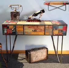 Retro Console Table Loft American Country Retro Vintage Console Table Decoration