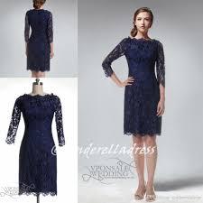 2015 navy blue beteau sheath knee length lace bridesmaid dresses