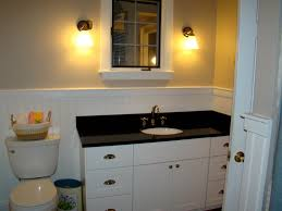 bathroom awesome bathroom vanity ideas with white wainscoting and