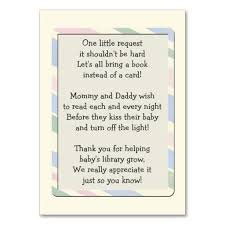 book instead of card baby shower poem baby shower book request insert card business card templates