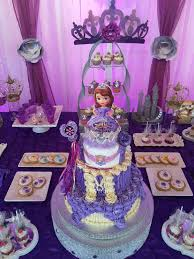 sofia the birthday party ideas sofia the birthday party ideas purple dessert tables