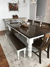 custom built solid wood modern farmhouse dining furniture 7 u0027 l x
