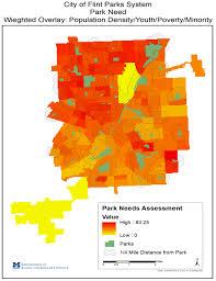 Flint Michigan Map Gis Projects University Of Michigan Flint