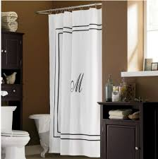 another take on the monogram shower curtain for the home