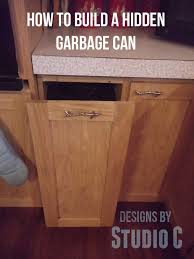 Free Wooden Garbage Bin Plans by 34 Best Wood Trash Can Plans Images On Pinterest Kitchen
