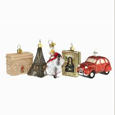 christmas decorations little paris set by bombki