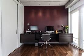 Wood Desk Ideas Office Accent Wall Ideas Home Office Contemporary With Maroon