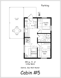 House Plans For Cottages by 2 Bedroom Cabin Floor Plans