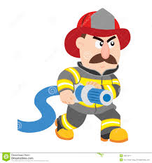 fireman cartoon character illustration royalty free stock