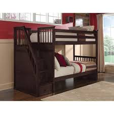 Stair Bunk Beds Ne School House Chocolate Stair Bunk Bed Free Shipping