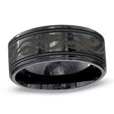 black titanium wedding band triton men s 9 0mm comfort fit quicksilver engraved black titanium