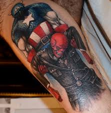 tattoos by scott trerrotola captain america and the red skull tattoo