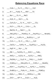 balancing chemical equations worksheet answer worksheets