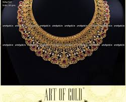 gold jewelry designs necklace images Designer necklace art of gold jewellery coimbatore jpg