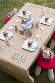 table enfant mariage gouter enfant table kraft mariage birthdays paper