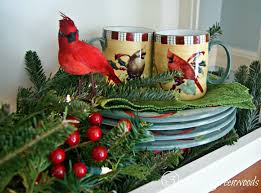 Ideas For Decorating The Kitchen For Christmas by Kitchen Hutch Decorating Ideas For Winter 3 Little Greenwoods