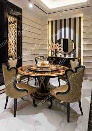 wholesale italy antique wooden round rotating dining table tn 029n