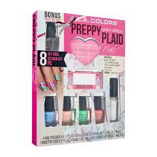 l a colors preppy plaid nail design kit 31884 preppy plaid 7 5ml