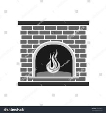 vector fireplace vector illustration eps10 stock vector 523179010