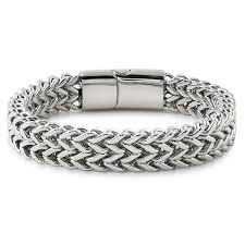 stainless bracelet images Double franco stainless steel bracelet stainless steel bracelets jpg