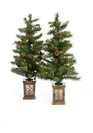 porch decoration 2 pc artificial pre lit entryway tree