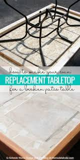 replace broken glass table top patio table makeover shattered glass redo my projects