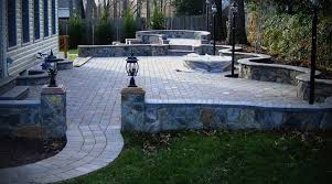 Patio Design With Pavers And Stone Wall Patio Style Idea Photo - Patio wall design