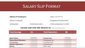salary receipt template 100 4 salary payslip format in training ms excel creating