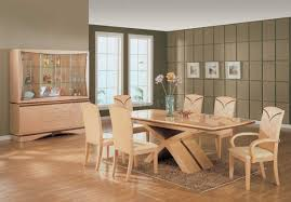 Maple Dining Room Set by Color High Gloss Finish Modern Vetrina