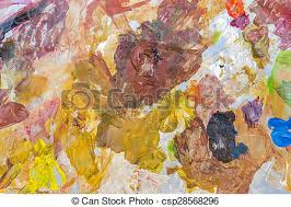 stock photographs of abstract acrylic paint palette of colorful