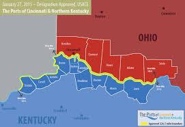 Map Of Cincinnati Ports Of Cincinnati And Northern Kentucky Re Designation Project