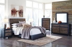 bedroom rustic king size bed frame distressed platform bed