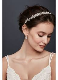ribbon headband pearl and floral ribbon headband david s bridal
