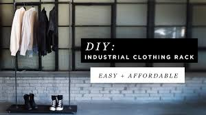 diy industrial clothing rack ft anthony deluca youtube