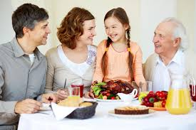 family at thanksgiving table royalty free stock photo image