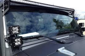 jeep wrangler 2007 2016 led light bar and dual spot beam led