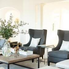 Linen Wingback Chair Design Ideas Wood And Iron Coffee Table Design Ideas