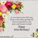 65th birthday cards 65th birthday messages dgreetings template