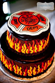 satisfying inspiration firefighter birthday cake and interesting