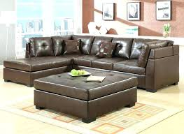 Square Brown Leather Ottoman Brown Leather Ottoman Coffee Table With Storage Chic Square