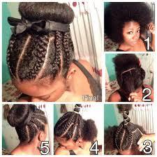 howtododoughnut plait in hair cornrows and a donut bun natural hair pinterest donut bun