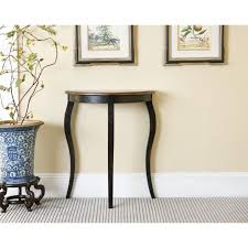Small Entry Table Furniture Black Wooden Small Entry Table Under Two Wall Picture