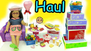 giant american doll food haul cookie swirl c toy unboxing