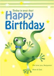 printable lizard birthday card template
