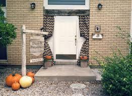 Halloween Front Door Decor Easy Front Door Halloween Decor