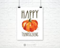 thanksgiving poster etsy