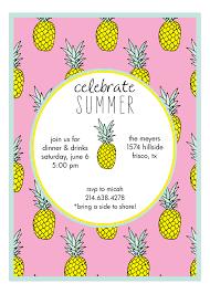 pink mod pineapple hawaiian luau invitations summer